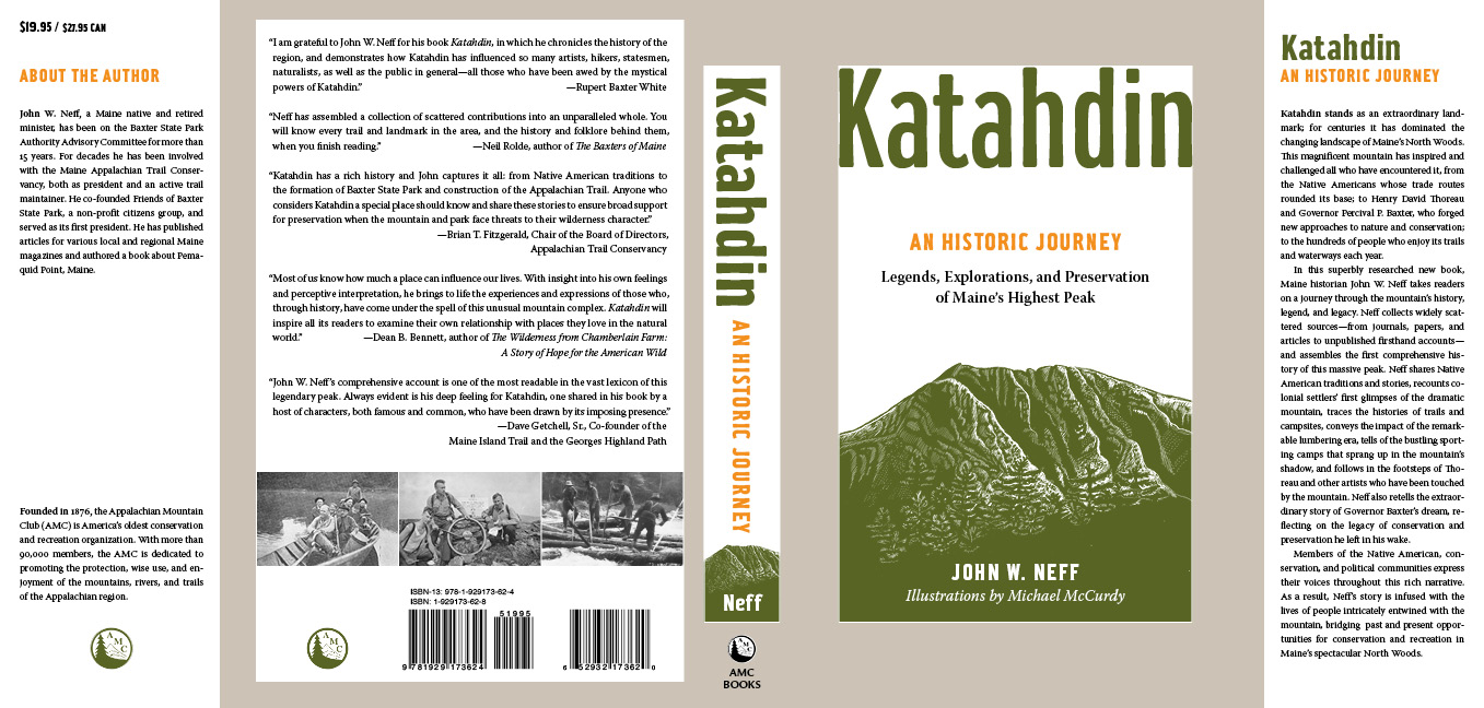 Book Cover Design Hd ~ Katahdin an historic journey u eric edstam